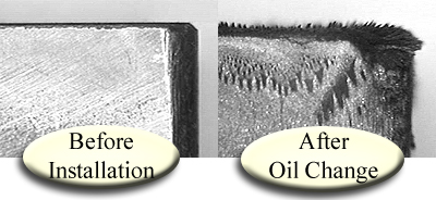 Oil filter magnets remove metal to less than 1 micron in size